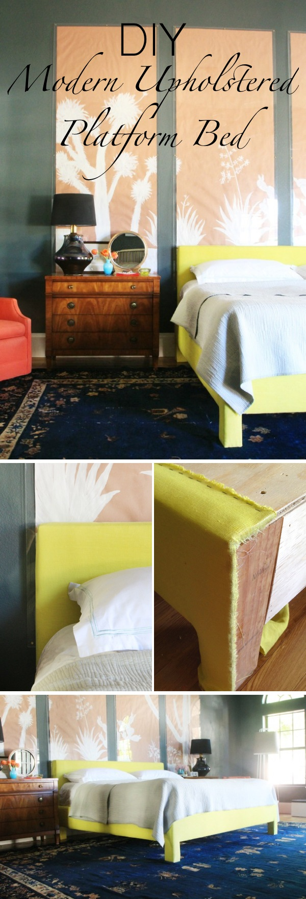 DIY Modern Upholstered Platform Bed