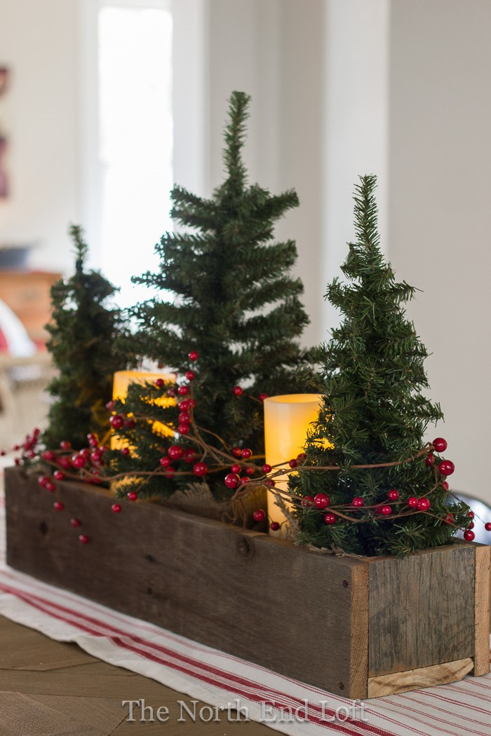 rustic christmas table centerpiece - Rustic Christmas Table Decorations