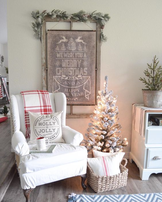 simple neutral christmas decor - Vintage Farmhouse Christmas Decor