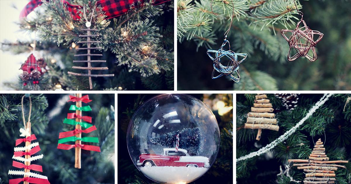 40 diy christmas ornaments that bring the joy - Diy Christmas Decorations 2017