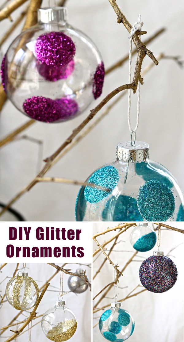 40 diy christmas ornaments that bring the joy homelovr diy glitter ornaments solutioingenieria Gallery