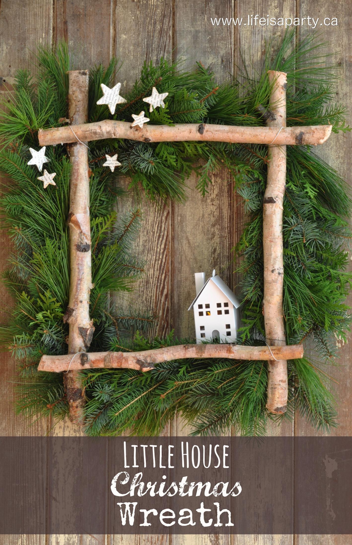 Little House Christmas Wreath