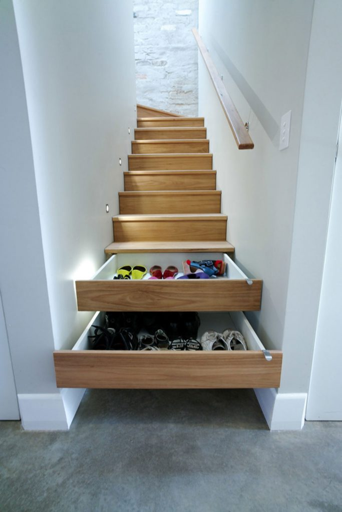 Clever Stair Shoe Storage Solution