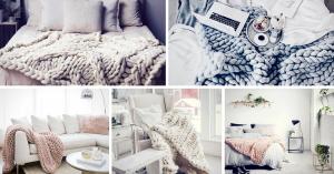 Cozy Chunky Knit Blanket Decor Ideas