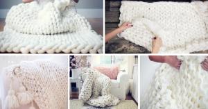 Easy DIY Chunky Knit Blanket Ideas