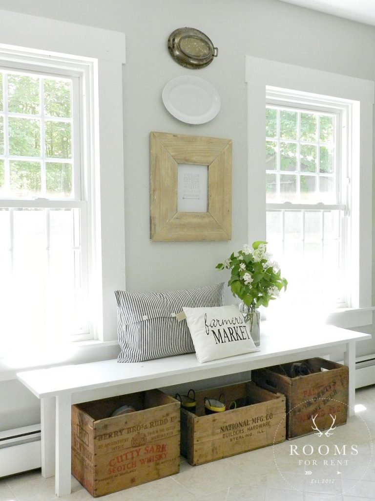 Farmhouse Bench and Shoe Storage