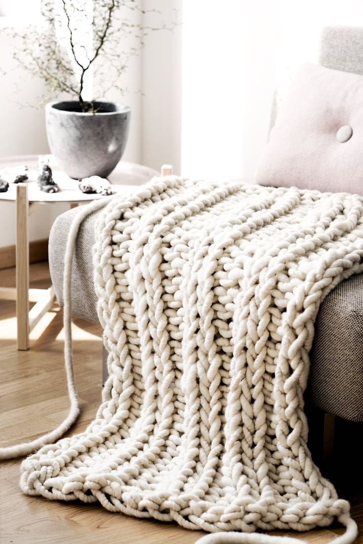 Giant Knitted Sofa Throws