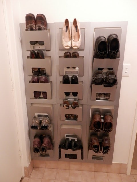Ikea Magazine DIY Shoe Rack
