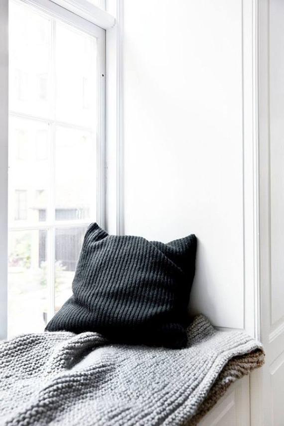 Scandinavian Minimal Window Seat Nook