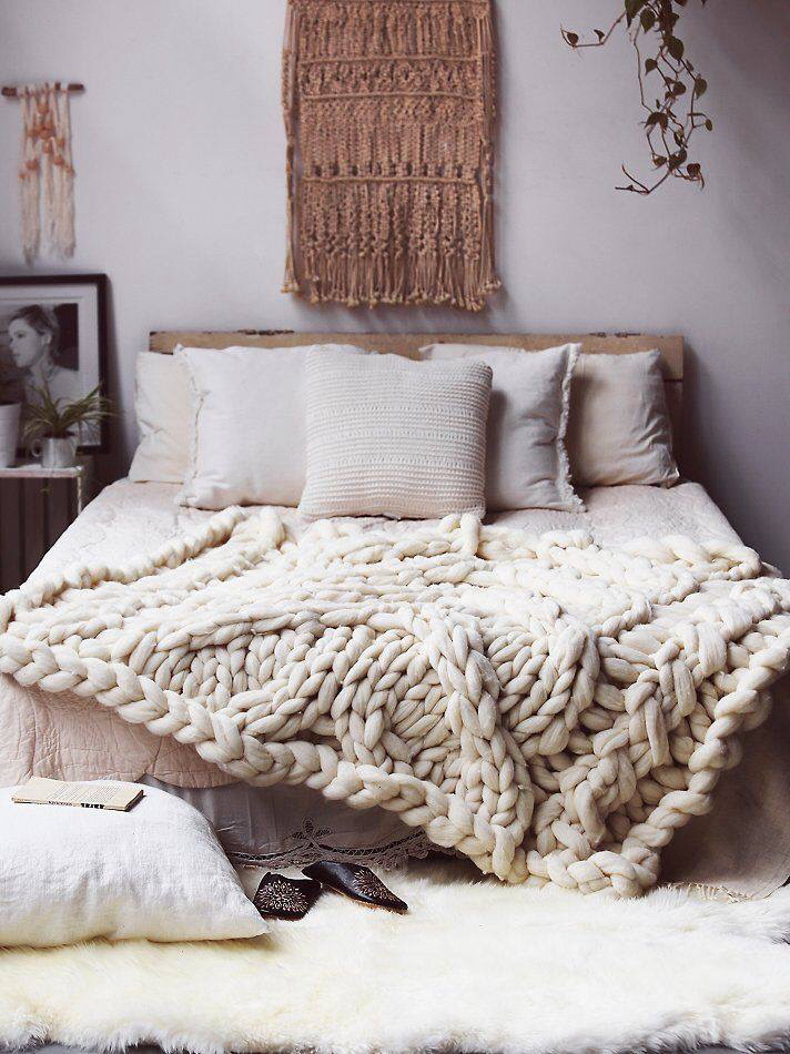 Oversized Cable Knit Blanket