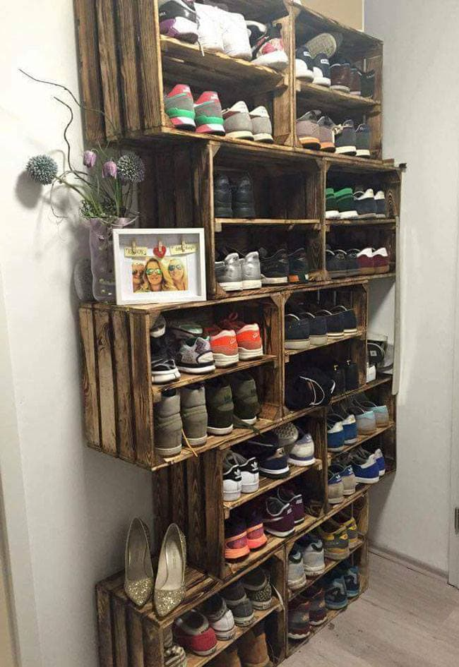 Shoe Rack from Rustic Crates 37 Space