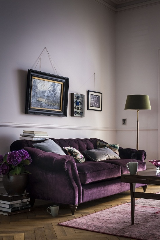 Violet Color Sofa