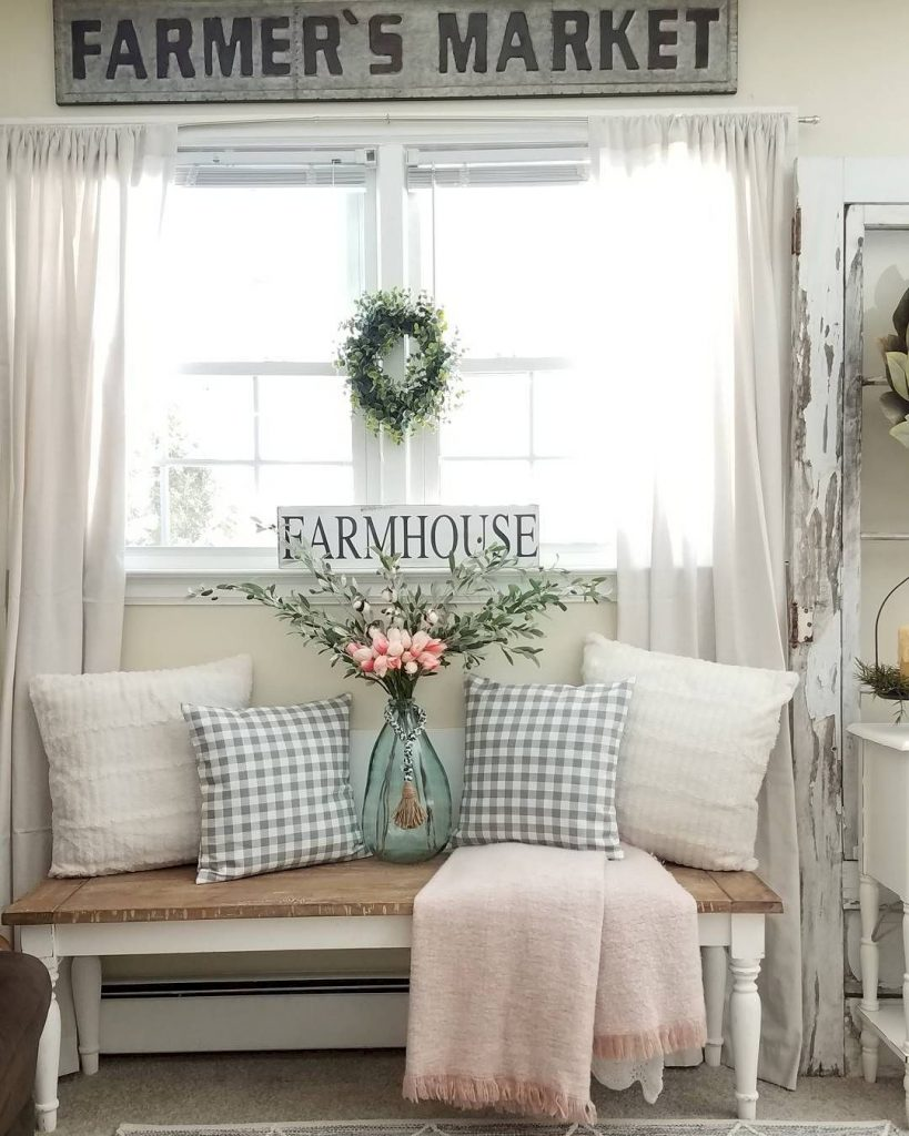 surprising farmhouse style decorating living room | Farmhouse Spring Decor: 20 Beautiful Ways to Welcome ...