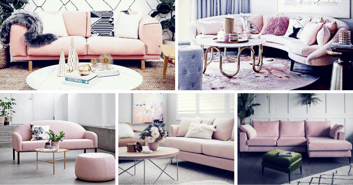 Etonnant Blush Pink Sofa: Add A Touch Of Color To The Living Room