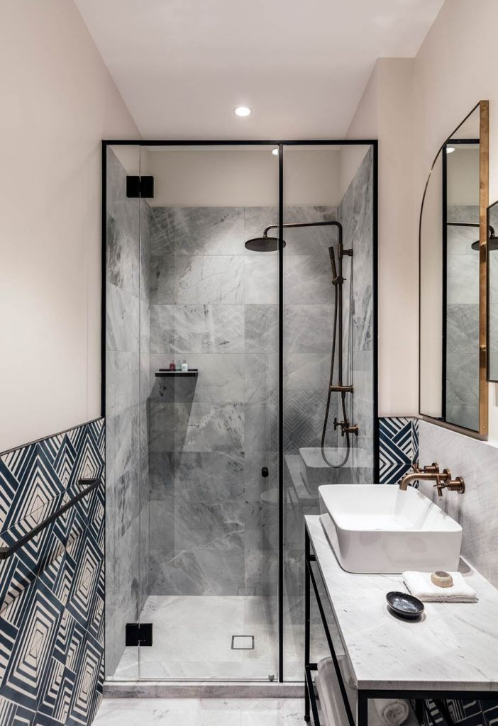 Grey Marble Shower Tiles