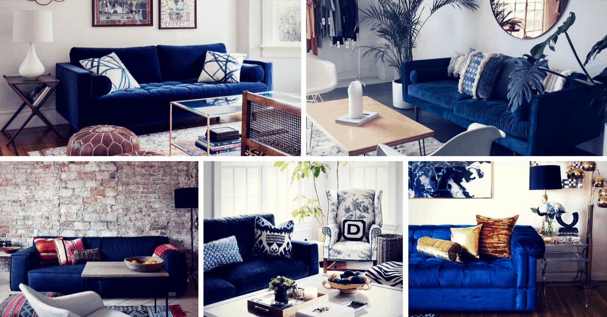Gorgeous Blue Velvet Sofa Ideas For Your Living Room Homelovr