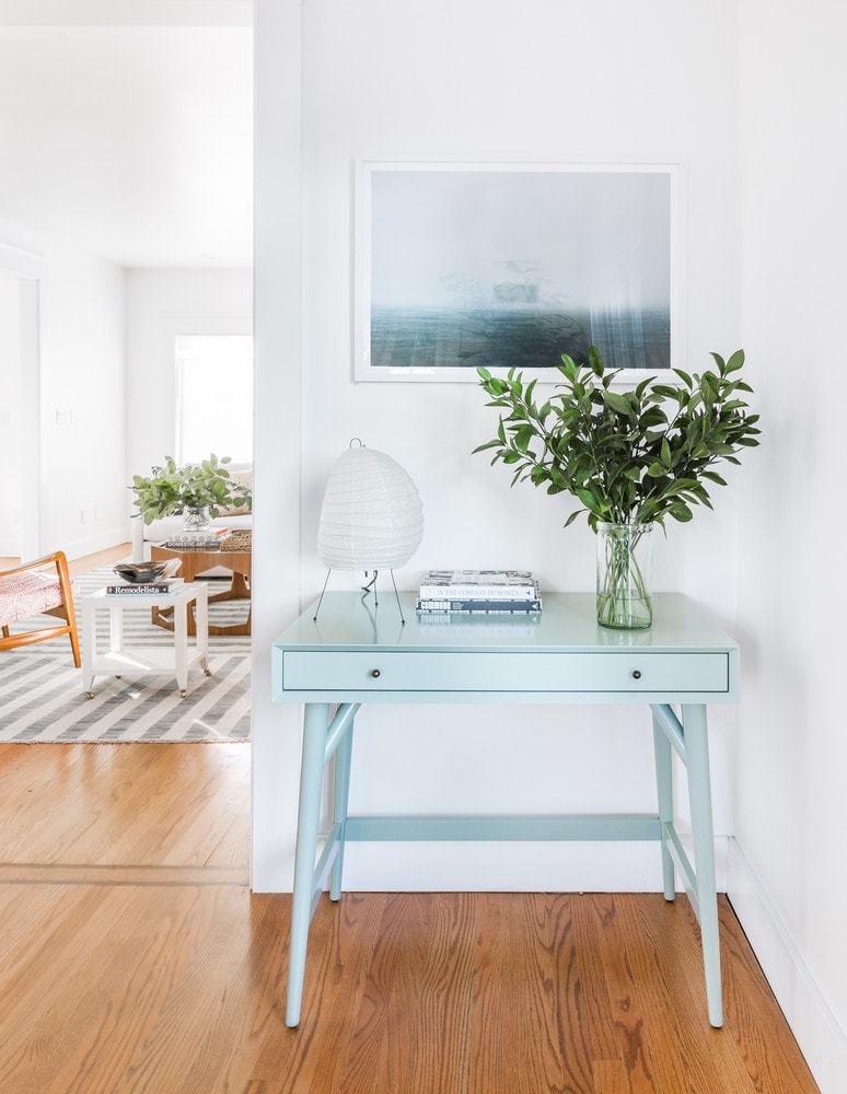 Blue Entryway Table