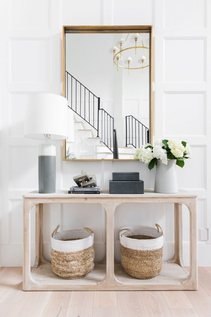Open Console Table in an Entry Room