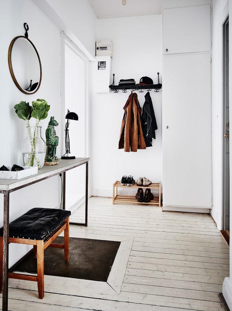 Scandinavian chic ethnic style entryway table