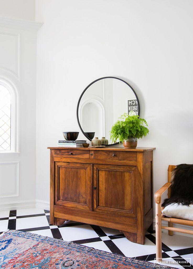 Stylish entryway table idea
