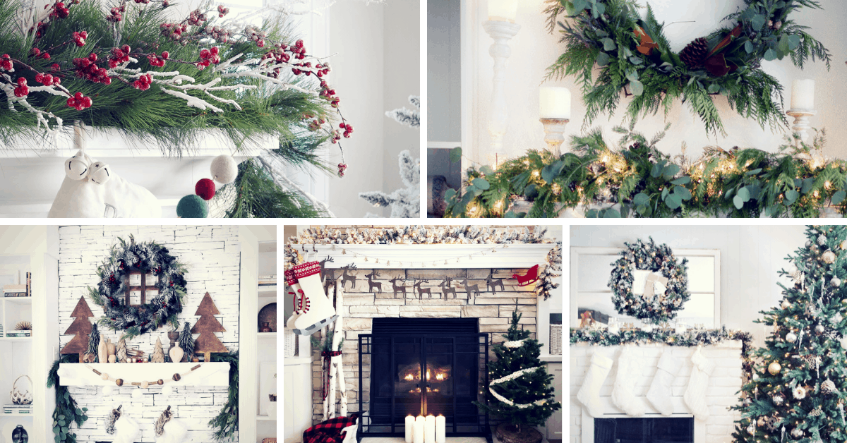 Christmas Mantel Decorations.29 Beautiful Simple Christmas Mantel Decorating Ideas
