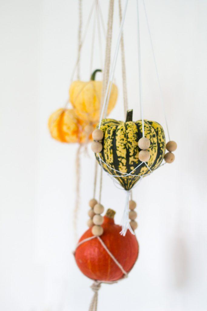 Macrame Hanging Pumpkin