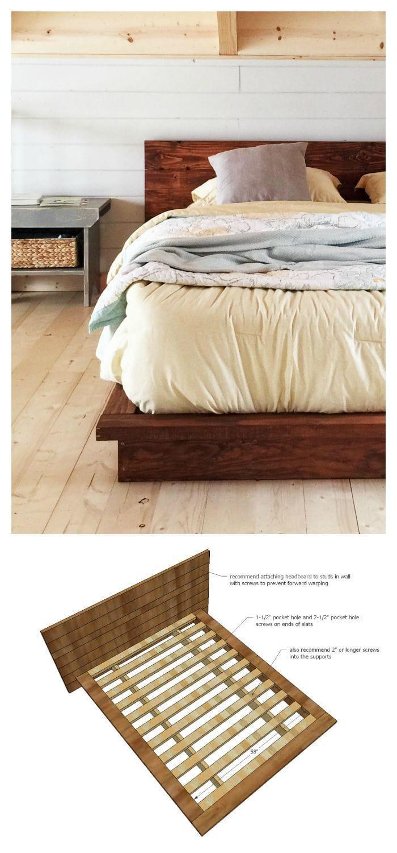 Rustic Modern 2x6 Platform Bed