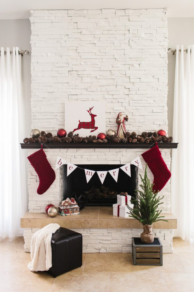 Traditional Holiday Mantel
