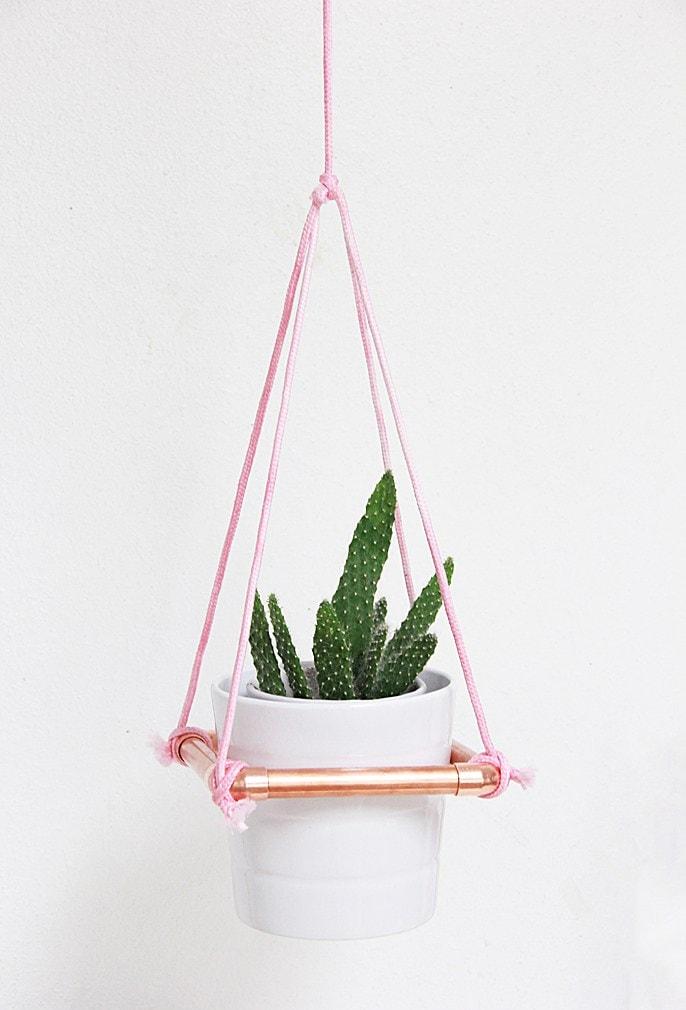 DIY Hanging Copper Planter