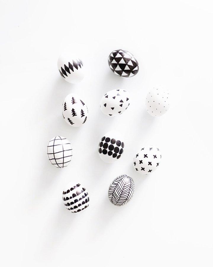 DIY Scandinavian Sharpie Easter Eggs