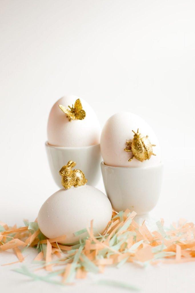 Gold Animal Easter Eggs