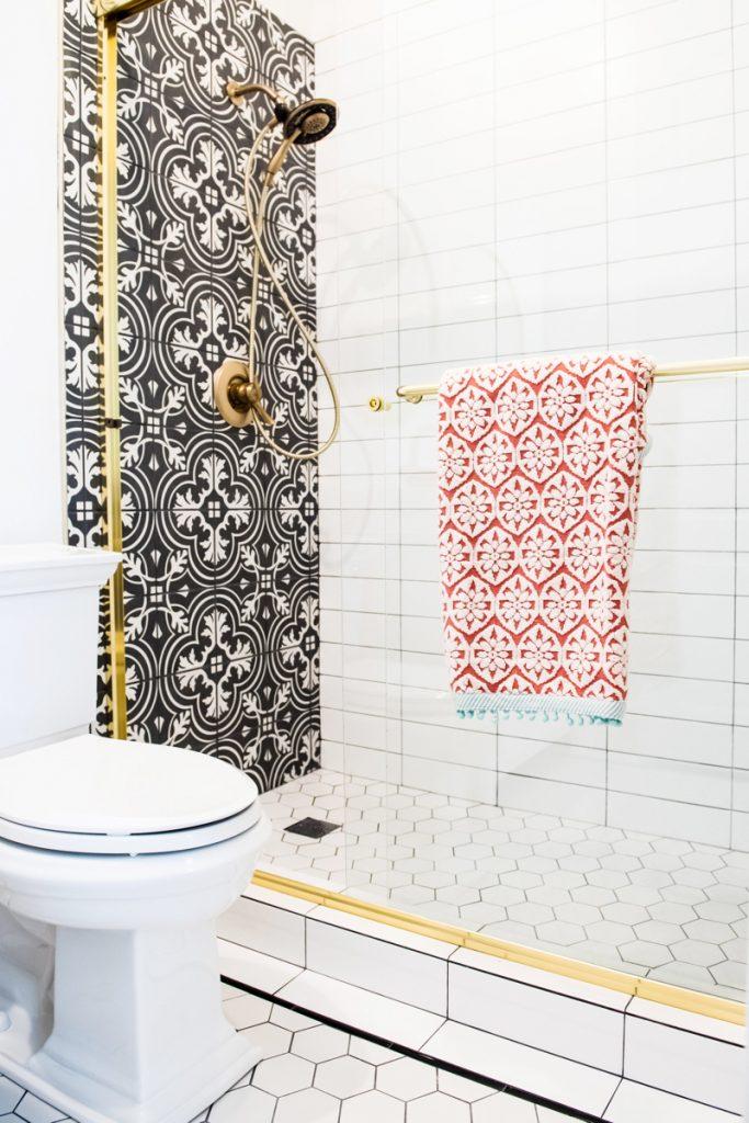 Spanish-Inspired Glam Bathroom Shower