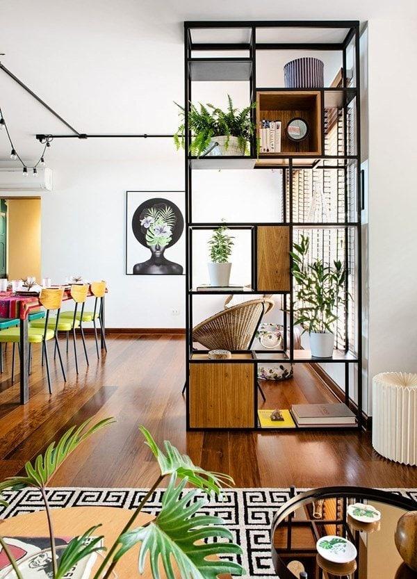 Clever Shelving Room Divider