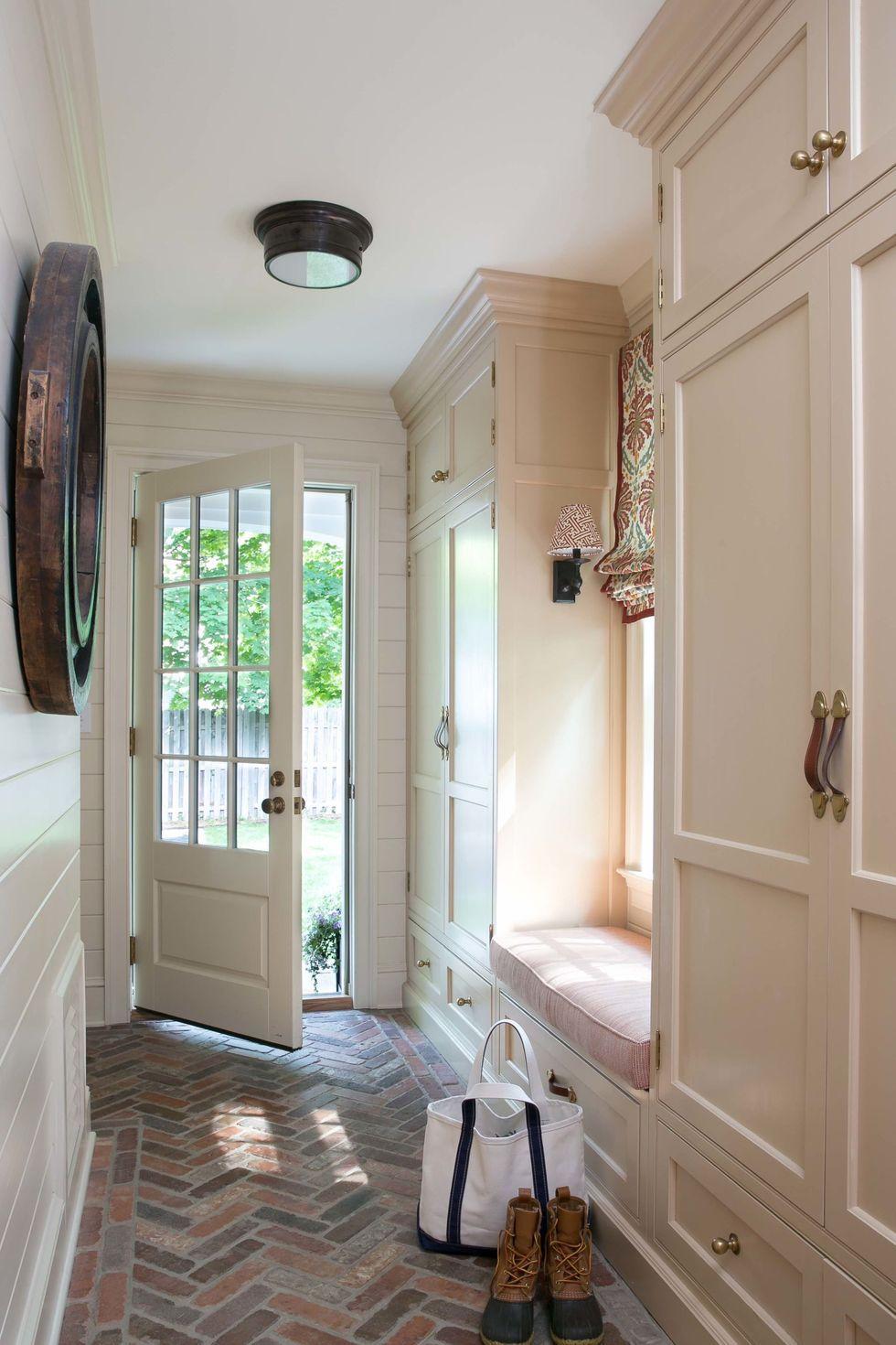 Hallway Turned Into Mudroom