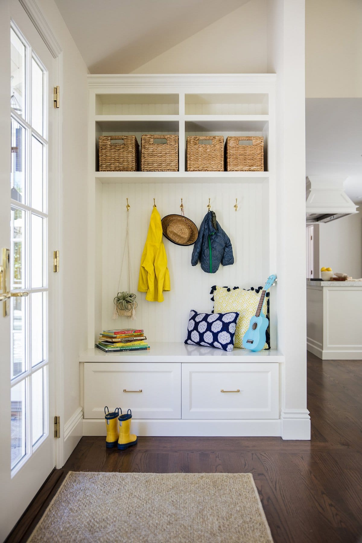 Traditional Mudroom & Bench Loaded With Storage