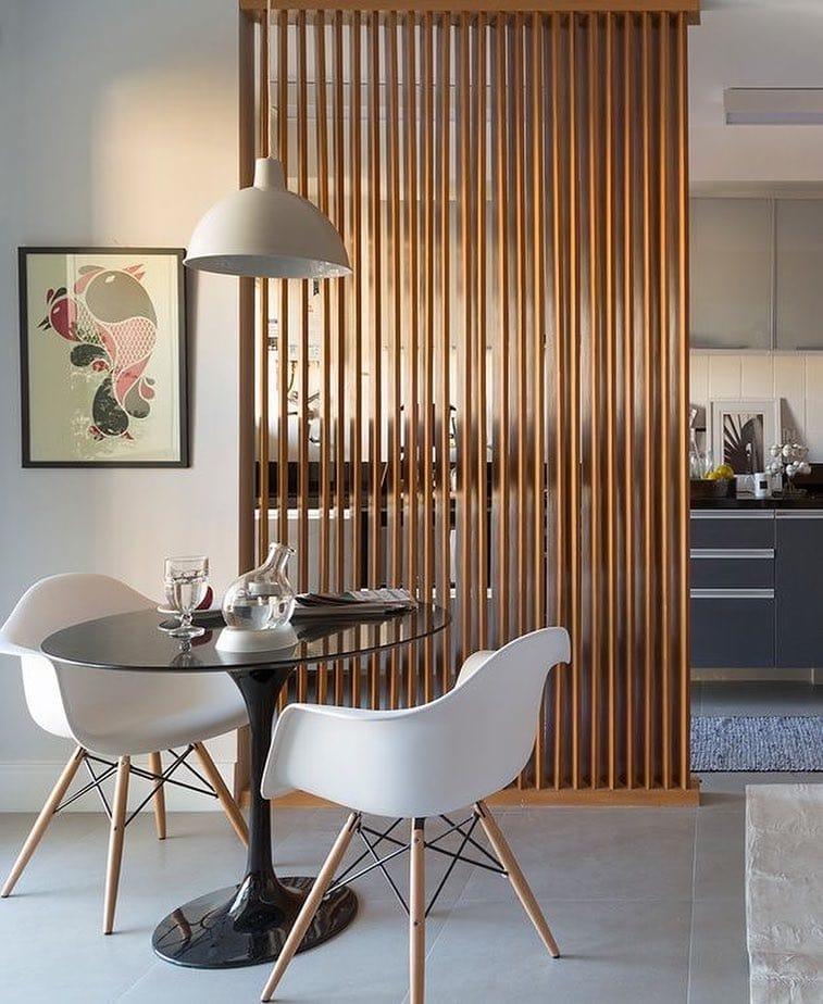 Vertical Wood Slat Wall Divider